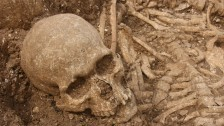 Finds from the mass grave in Dorset. Credit: Lion TV.