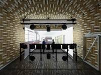 In TUM's new aneochoic chamber, virtual acoustic and apotical enviroments are cr